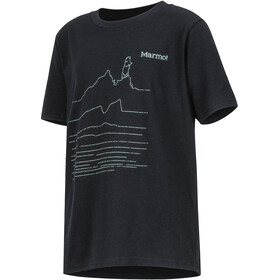 Marmot Purview SS Tee Pojkar black heather
